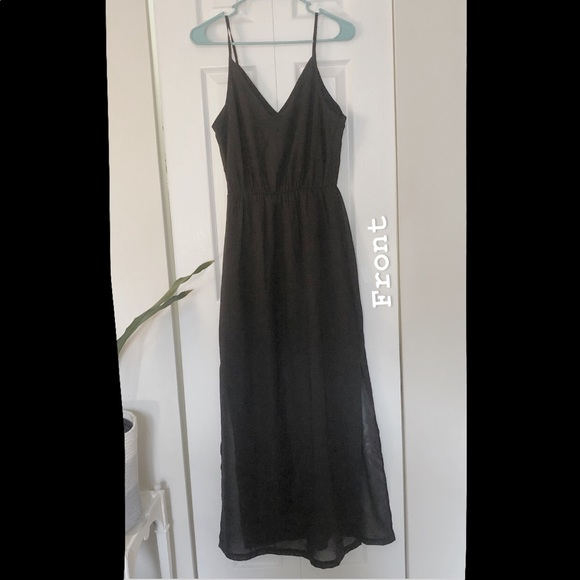 NWT H&M Black Chiffon Maxi Dress